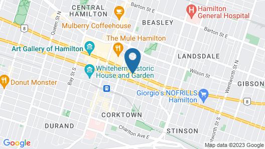 Hamilton Plaza Hotel & Conference Center Map