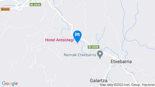 Hotel Antsotegi  Map