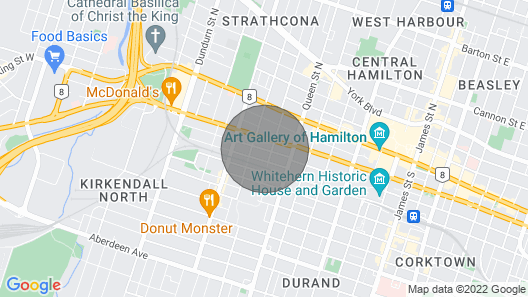 Cozy Private Suite in the Heart of Downtown Hamilton Map