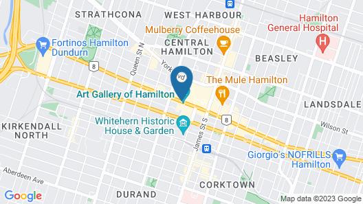 Sheraton Hamilton Hotel Map