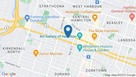 Staybridge Suites Hamilton Downtown Map