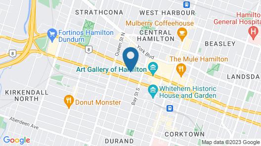 Staybridge Suites Hamilton Downtown, an IHG Hotel Map