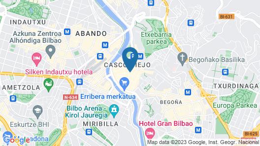 Blue Bilbao Map