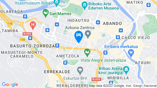 Hotel Silken Indautxu Bilbao Map