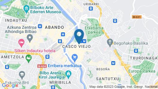 Pensión Luxury Plaza Nueva Map