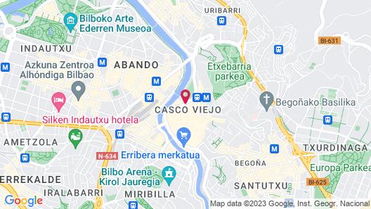NYX Hotel Bilbao by Leonardo Hotels Map