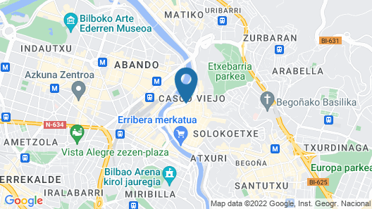 NYX Hotel Bilbao by Leonardo Hotels Map