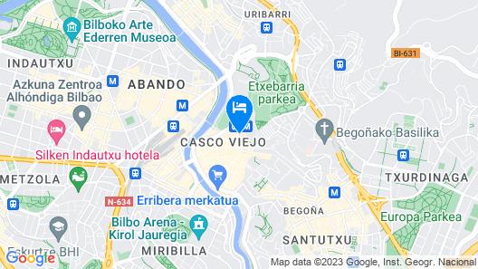 Pensión Luxury Lo Bilbao Map