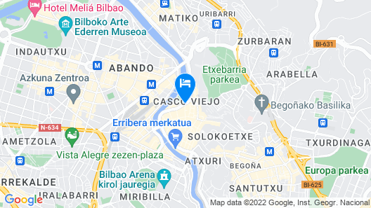 Sercotel Arenal Bilbao Map