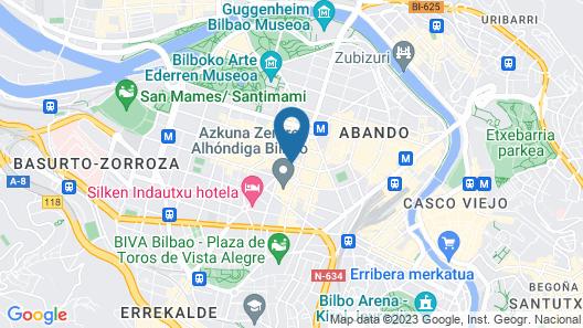 Santiago Apartments Bilbao Map