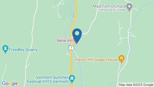 Aerie Inn of Vermont Map