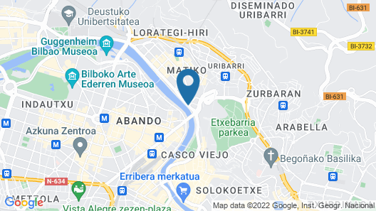 Hotel Bilbao Plaza Map
