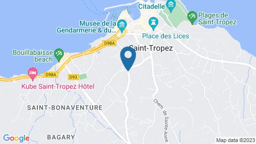 La Bastide de Saint Tropez Map