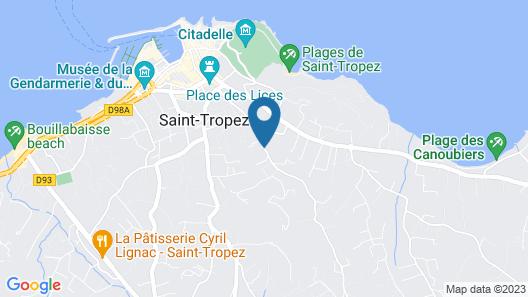 Hôtel Villa Cosy Map