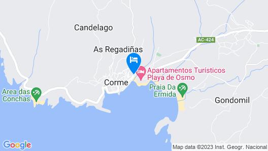 Apartamento Mirador de Corme Map
