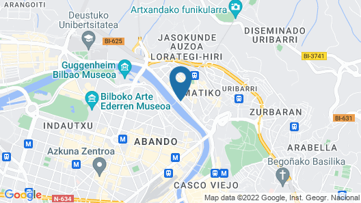 Hotel Conde Duque Bilbao Map