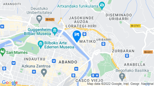 Hesperia Bilbao Map