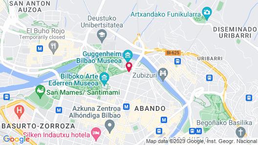 Gran Hotel Domine Bilbao Map