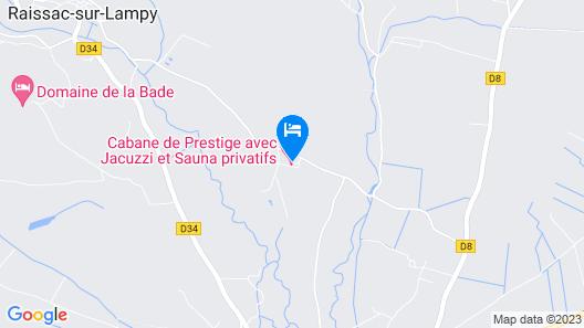 Cabane de Prestige Avec Jacuzzi et Sauna Privatifs Map