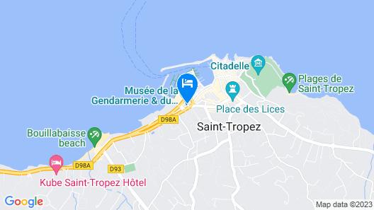 Hôtel de Paris Saint-Tropez Map