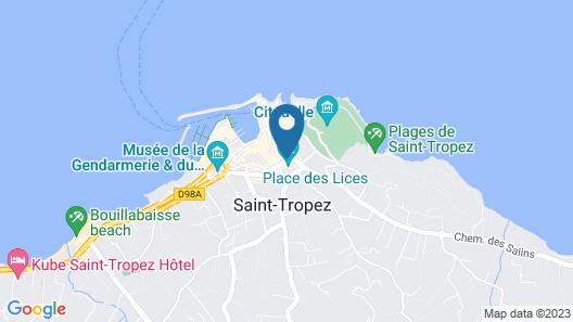 White 1921 Saint-Tropez Map