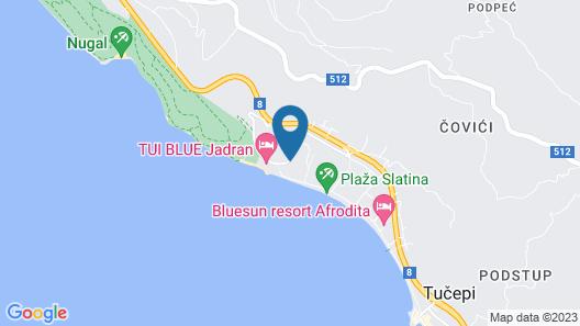 Bluesun Hotel Neptun Map