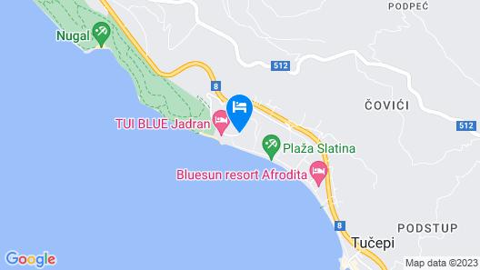 Bluesun Hotel Neptun - All Inclusive Map