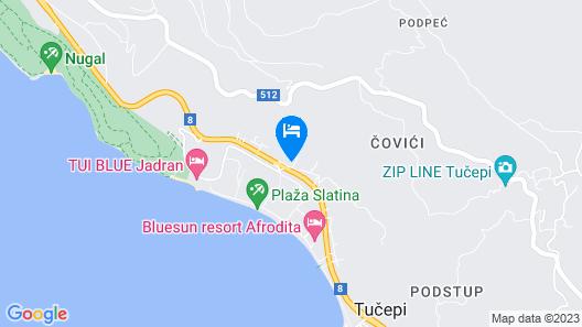 Apartments Zelic Tucepi Map