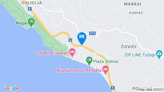Villa Mila Map
