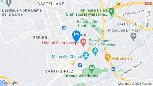 Citadines Prado Chanot Marseille Map