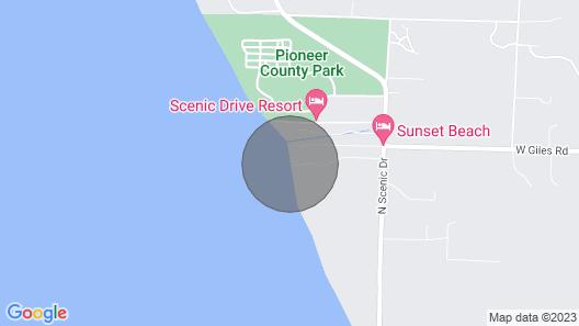 Beachfront Lake Michigan Cottage W/fire Pit & Deck Map