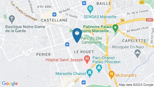 Odalys City Marseille Prado Castellane Map