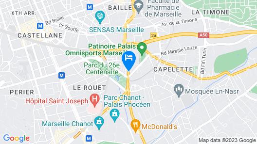 Hotel Kyriad Marseille Palais Des Congres - Vélodrome Map