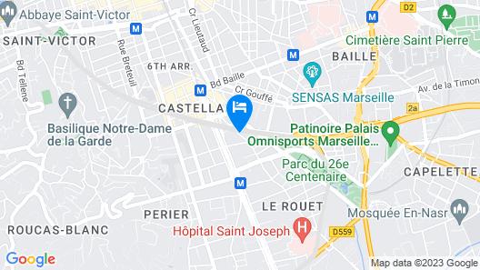 Citadines Castellane Marseille Map