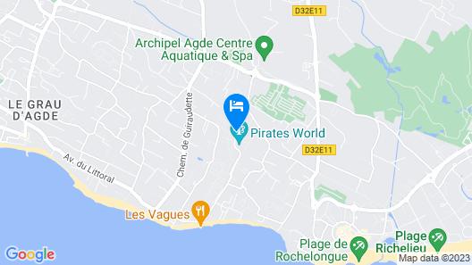 Hôtel Cap Pirate Map