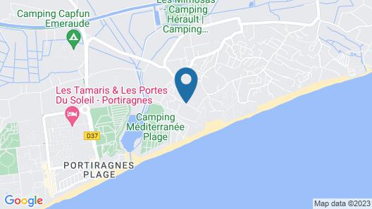 Camping La Dune Map