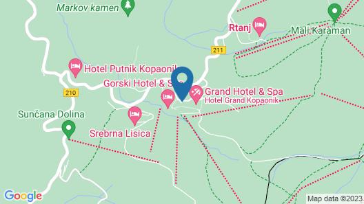 Grey Hotel Kopaonik Map