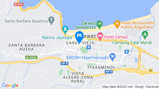Hotel Zerupe Map