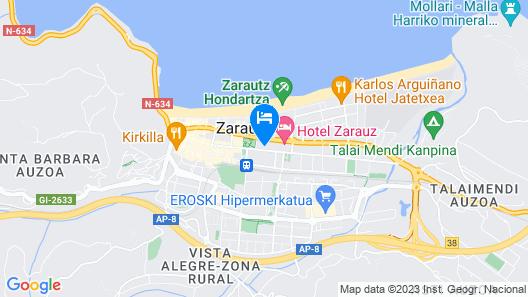 Apartamentos Isaga Map