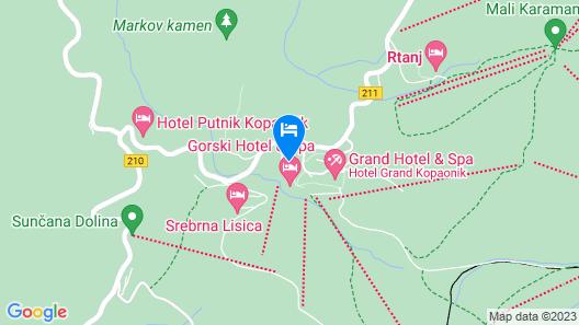 Apartments Suncani Vrhovi Kopaonik Map