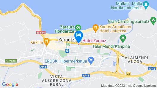 Hotel Zarauz Map