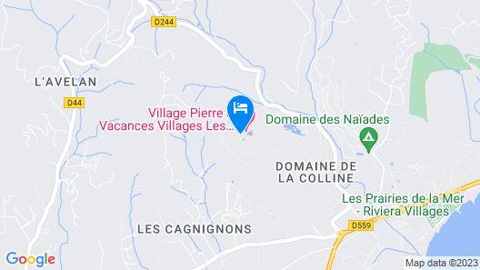 Résidence Pierre et Vacances les Restanques Du Golf de Saint Tropez Map