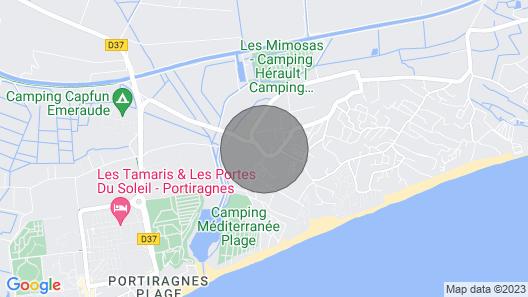 CARAVAN SIDE BEACH VIAS + PARKING Map
