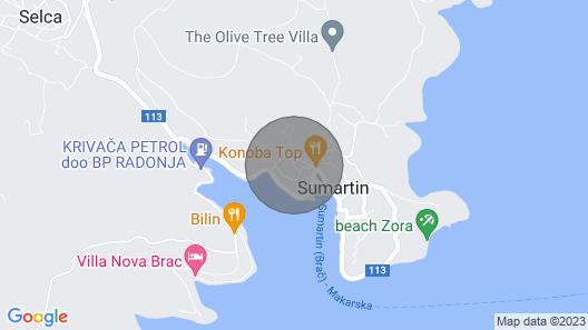 Villa Rokova Vala - Sumartin - Island Brac Map