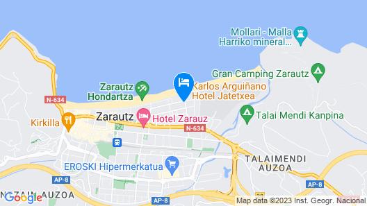 Pensión Zarauz Playa Map