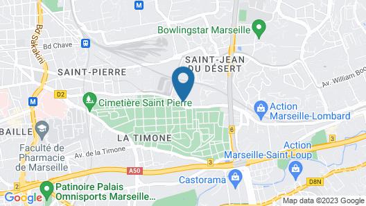 City Résidence Marseille Map