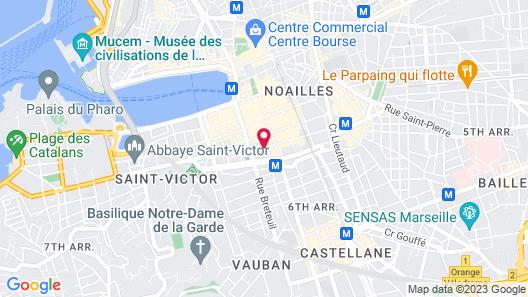 Hôtel Maison Montgrand Marseille Vieux Port Map