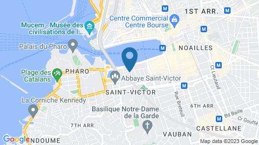 Appart'Hotel Marseille Vieux-Port Map