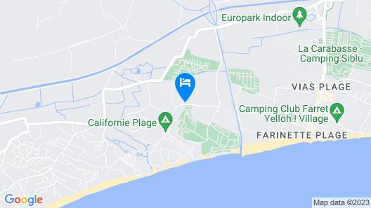 Camping & Spa CAP SOLEIL Map