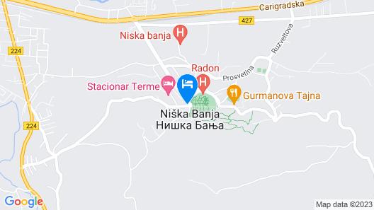 Vila Olivera Niska Banja Map